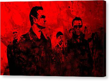 U2 Rock On Canvas Print by Brian Reaves