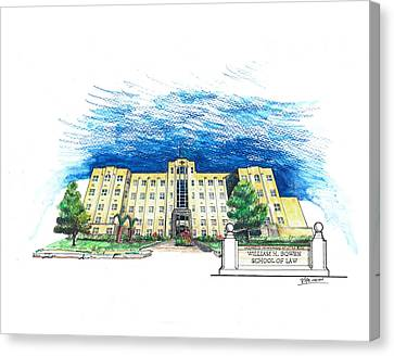 Ualr William H. Bowen School Of Law Canvas Print by Yang Luo-Branch