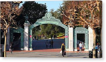 Uc Berkeley . Sproul Plaza . Sather Gate . Wide Size . 7d10020 Canvas Print by Wingsdomain Art and Photography