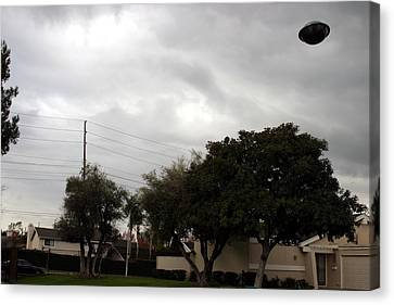 Ufo Over My Neighborhood  Canvas Print by Michael Ledray