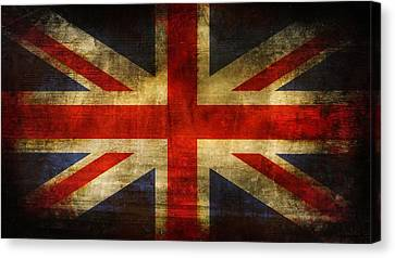 Uk Flag Canvas Print by Brett Pfister