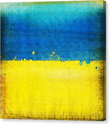 Ukraine Flag Canvas Print by Setsiri Silapasuwanchai