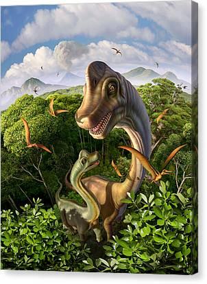 Ultrasaurus Canvas Print by Jerry LoFaro