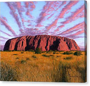 Uluru Sunset Ayers Rock Canvas Print by Richard Harpum