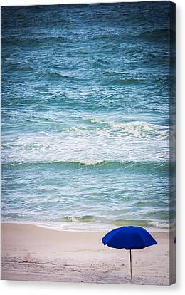 Umbrella In Paradise Canvas Print by Shelby Young