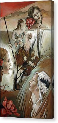 Umbrella Canvas Print by Jacque Hudson