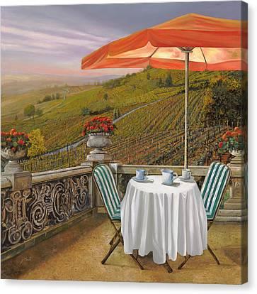 Un Caffe Canvas Print by Guido Borelli