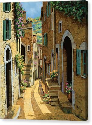 Un Passaggio Tra Le Case Canvas Print by Guido Borelli