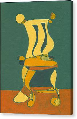 Un-sittable Small Canvas Print by John Gibbs
