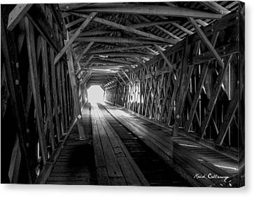 Weatherizing Uncovered Watson Mill Covered Bridge Canvas Print by Reid Callaway