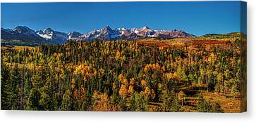 Under An Autumn Sky Canvas Print by Andrew Soundarajan