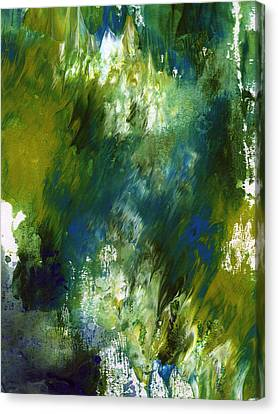 Under The Canopy- Abstract Art By Linda Woods Canvas Print by Linda Woods
