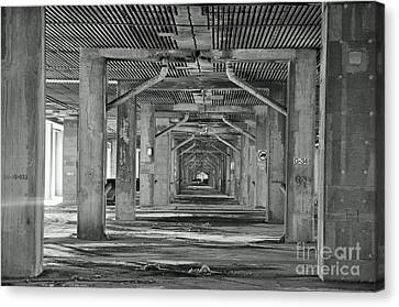 Under The Overpass Canvas Print by Reb Frost