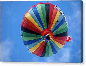 Under The Rainbow - Hot Air Balloon Canvas Print by Nikolyn McDonald