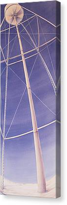 Under The Water Tower Canvas Print by Scott Kirby