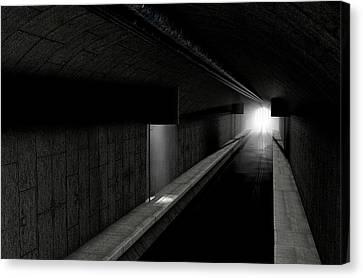 Underground Sewer Canvas Print by Allan Swart