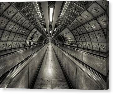 Underground Tunnel Canvas Print by Vulture Labs