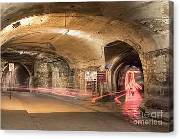 Underground Tunnels In Guanajuato, Mexico Canvas Print by Juli Scalzi