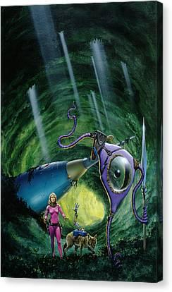 Underground World Canvas Print by Richard Hescox