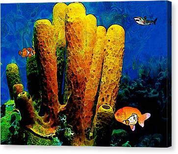 Underwater. Coral Reef. Canvas Print by Elena Kosvincheva