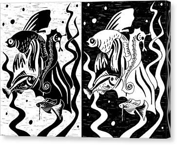 Underwater Fish Canvas Print by Svetlana Sewell