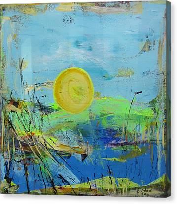 Une Journee Magnifique Canvas Print by Francine Ethier