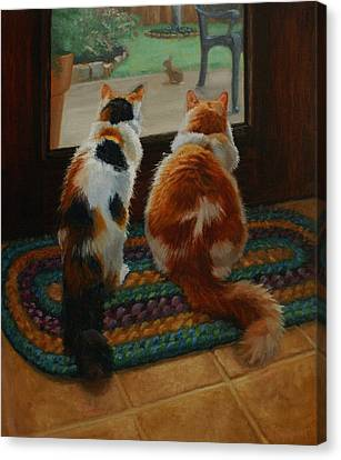 Unexpected Guest Canvas Print by Vicky Gooch