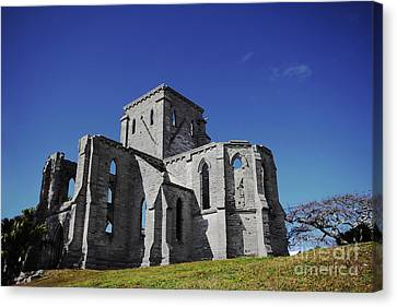 Unfinished Church In Bermuda Canvas Print by Charline Xia