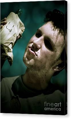 Unhappy Homeless Man Canvas Print by Jorgo Photography - Wall Art Gallery