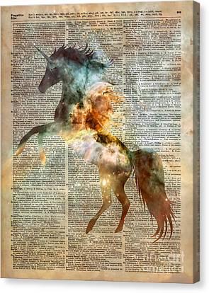 Unicorn Carina Nebula Canvas Print by Jacob Kuch