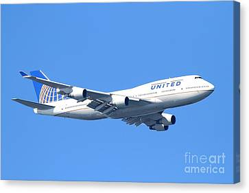 United Airlines Boeing 747 . 7d7850 Canvas Print by Wingsdomain Art and Photography