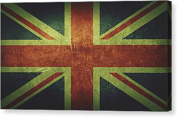 United Kingdom Distressed Flag Dehner Canvas Print by T Shirts R Us -