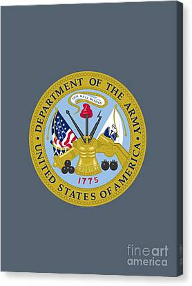 United States Department Of The Army Canvas Print by Pg Reproductions
