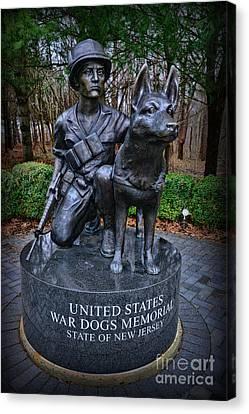 United States War Dog Memorial Canvas Print by Paul Ward