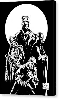 Universal Monsters Canvas Print by Paul Davidson