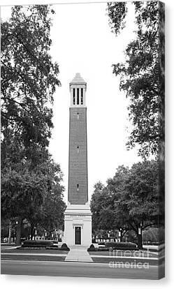 University Of Alabama Denny Chimes Canvas Print by University Icons