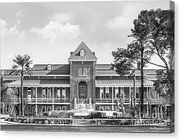 University Of Arizona Old Main With Fountain Canvas Print by University Icons