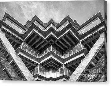 University Of California San Diego Geisel Library Abstract Canvas Print by University Icons