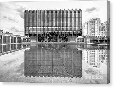 University Of Chicago D' Angelo Law Library Canvas Print by University Icons