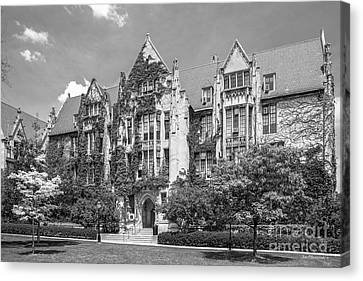 University Of Chicago Eckhart Hall Canvas Print by University Icons
