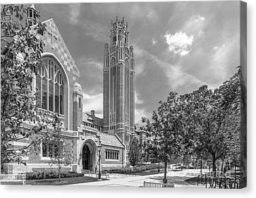 University Of Chicago Saieh Hall For Economics Canvas Print by University Icons