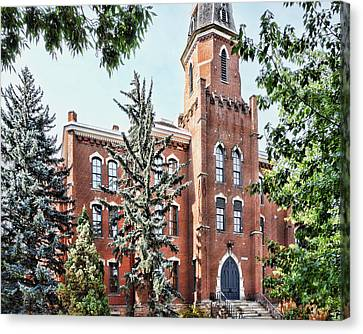 University Of Colorado Old Main In Summer - Photography Canvas Print by Ann Powell