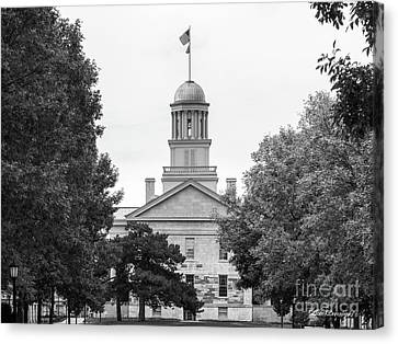 University Of Iowa Old Capital Canvas Print by University Icons