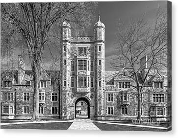 University Of Michigan Law Quad Canvas Print by University Icons
