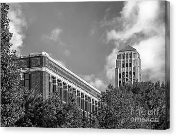 University Of Michigan Natural Sciences Building With Burton Tower Canvas Print by University Icons