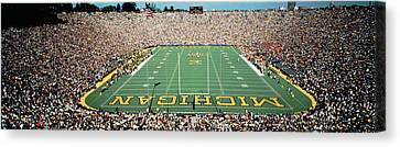 University Of Michigan Stadium, Ann Canvas Print by Panoramic Images