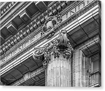 University Of Pennsylvania Column Detail Canvas Print by University Icons
