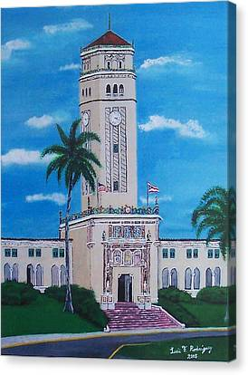 University Of Puerto Rico Tower Canvas Print by Luis F Rodriguez