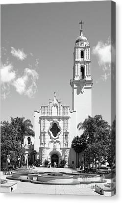 University Of San Diego The Church Of The Immaculata Canvas Print by University Icons