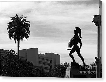 University Of Southern California Tommy Trojan Canvas Print by University Icons